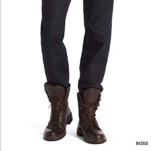 HUGO BOSS RUSSON Leather Casual Boots Size 10 EUC